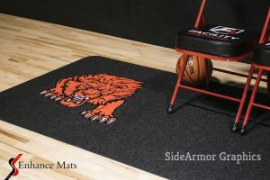 SideArmor-courtside-gym-floor-runners-basketball-logo-mats-enhance-mats