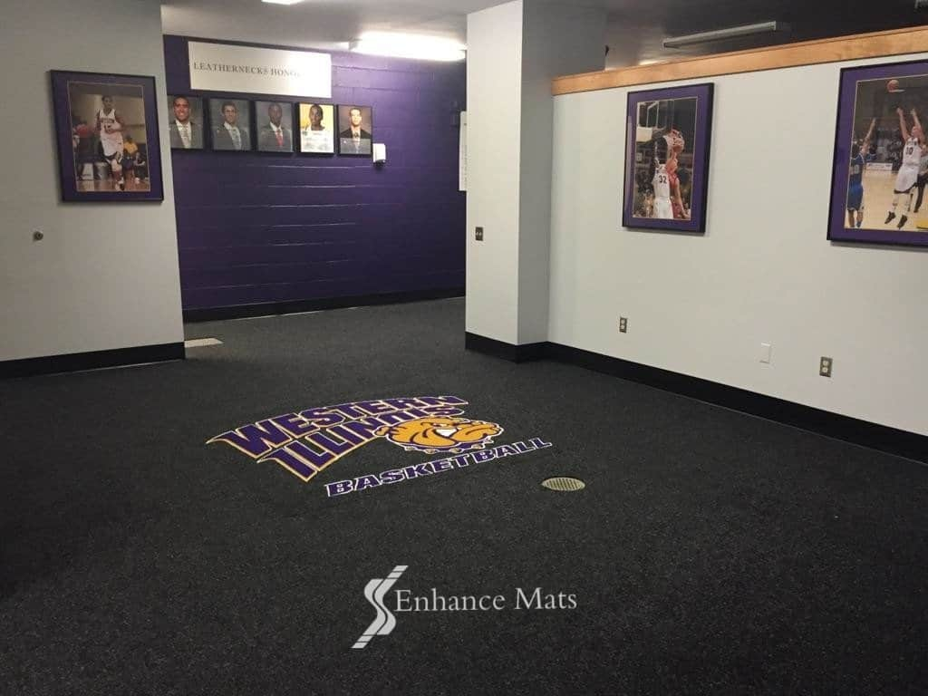 Logo Locker Room Carpet Custom Carpet Enhance Mats