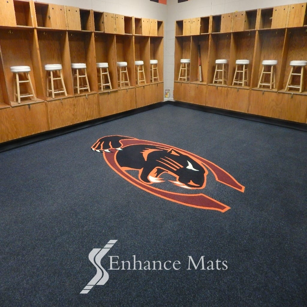 Logo Locker Room Carpet Custom Carpet Enhance Mats