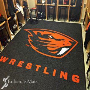 wrestling logo locker room mat custom logo mats custom floor mats logo2
