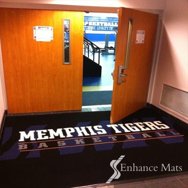 Basketball gym entrance mats memphis custom logo mats custom floor mats logo