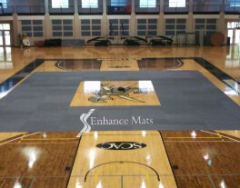 CourtArmor tile gym floor cover protection