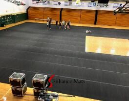 Pinecrest High School CourtArmor rolls gym floor covering