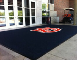 stadium arena oversize custom logo graphic entrance mat outdoor