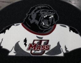 preview gallery Lacrosse University of Mass Lacrosse custom logo mat