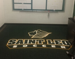 preview gallery Soccer Saint Leo University custom logo mats