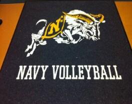 preview gallery Volleyball navy logo locker room mat volleyball