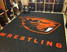 preview gallery Wrestling custom logo locker room mat carpet