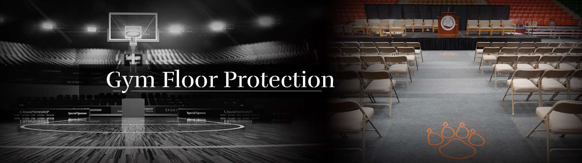4 Gym Floor Protection banner